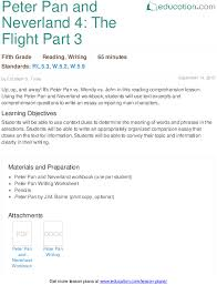 peter pan and neverland the flight part lesson plan  peter pan and neverland 4 the flight part 3 lesson plan com
