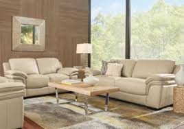 beige furniture. cindy crawford home grand palazzo beige leather 2 pc living room furniture