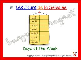 French Days Of The Week French Days Of The Week