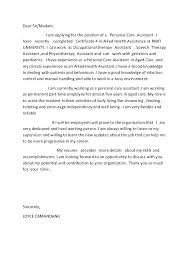 Cover Letter For Aged Care Worker Aged Care Cover Letter Aged Care