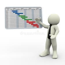 человек d и планово контрольный график проекта Иллюстрация штока   человек 3d и планово контрольный график проекта Иллюстрация штока иллюстрации насчитывающей облечение
