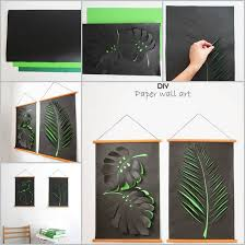 creative ideas diy paper leaf wall exhibition paper wall