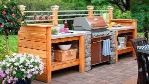 Outdoor Kitchen With Concrete Countertop Build Outdoor Kitchen Outdoor Kitchen Decor Simple Outdoor Kitchen