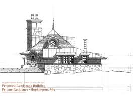 Small Picture Design Development Elevation Drawing for Small Cottage Building in