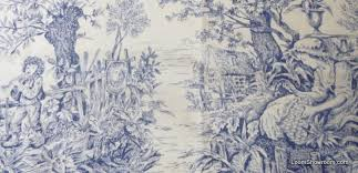 Toile Asia French Provincial Blue and White China Japan Willow ... & Toile Asia French Provincial Blue and White China Japan Willow Print Cotton Fabric  Quilt Fabric ABO129 Adamdwight.com
