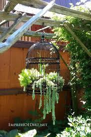 how to make a birdcage flower planter