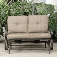 outdoor glider rocker. Cloud Mountain Patio Glider Bench Outdoor Cushioned 2 Person Swing Loveseat Rocking Seating Rocker