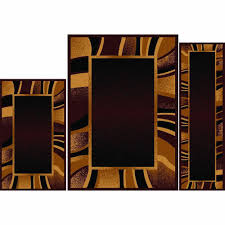 home ideas revisited 4 piece rug sets home dynamix ariana brown 5 ft x 7