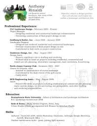 Landscape Resume Samples Resume Peppapp