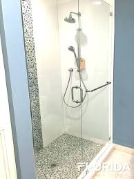 glass shower hardware towel bar for glass shower door inline enclosure with chrome hardware and a