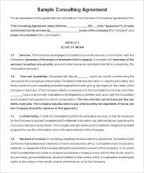 Consulting Agreement Sample In Word Impressive Consulting Agreement Template Kordurmoorddinerco