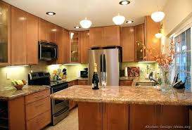kitchen peninsula lighting. Peninsula Light Traditional Wood Kitchen Lighting Ideas .
