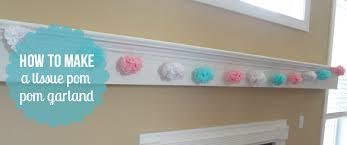 how to make a tissue pom pom garland