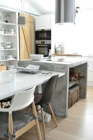 MODERN KITCHEN: Eating Dining Table Integrated With Concrete Kitchen  Waterfall Island | Basiclabelsweden: MYCKET