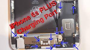 iphone 6s plus charging port replacement loud speaker headphone jack motor too you