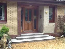 front door stepsNew Front Door Steps Lanarkshire door step tiles lanarkshire