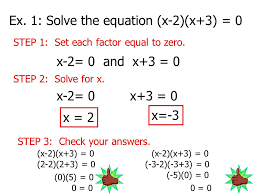 ex 1 solve the equation x 2 x 3