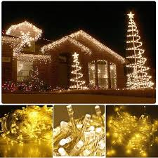 whole warm white 50m 500 led string lighting wedding fairy lights outdoor le decoration outdoor eu plug outdoor string of