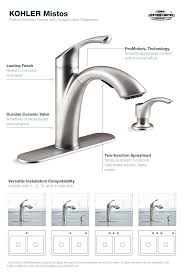 kohler single handle kitchen faucet pull out kitchen faucet in stainless steel kohler single handle kitchen kohler single handle kitchen faucet