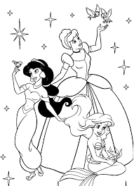Small Picture Coloring Pages For Girls Disney Princess Cartoon Coloring pages