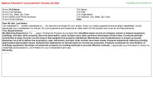 Property Accountant Job Cover Letter