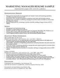 Marketing Manager Resume Sample Resume Companion