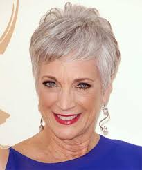 light grey short older hairstyles for thin hair