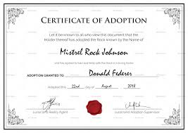 Certificate Of Birth Template Pet Adoption Certificate Template My Future Template 11