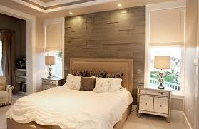View in gallery Wood slats give the bedroom accent wall an inviting warmth