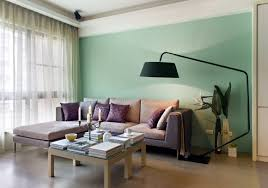 Wall Painting Colors For Living Room Big Black Tolomeo Floor Lamp Paired With Small Brown Wooden Living