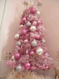 White Christmas Tree Gold Pink Decorations I Love The Vintage