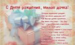Открытки с поздравлениями с днем рождения дочери