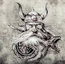 Viking Hlavy Tetování Stock Fotografie Royalty Free Viking Hlavy