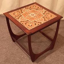 g plan occasional table coffee table teak tile top table retro vintage