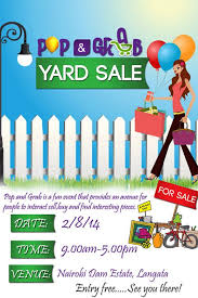 Yard Sale Flyer Template Free Robertrods Com