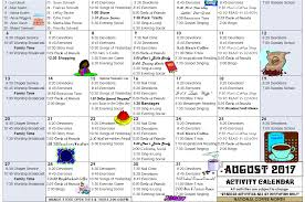 August Activity Calendar - Moundridge Manor