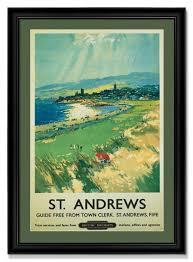 golf art st andrews british railways vintage travel poster framed framed print