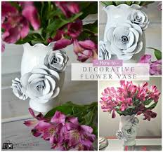 Cardstock Paper Flower Create A Decorative Flower Vase With Paper How To Make A Paper