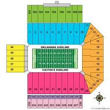 Oklahoma Memorial Stadium Seating Chart 58 Extraordinary University Of Oklahoma Stadium Seating Chart