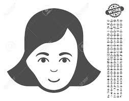ボーナス人クリップアートを女性顔絵文字ベクトル図のスタイルは白い背景の上象徴的なフラット