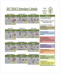 Absentee Calendar 7 Attendance Calendar Templates Free Word Pdf Format Download