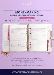 Printable Business Planner Business Financial Marketing