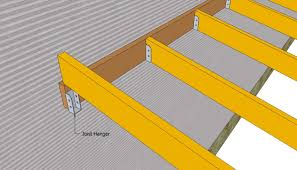 Attached carport plans   MyOutdoorPlans   Free Woodworking Plans    Installing the rafters of the carport