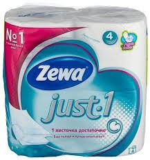 <b>Туалетная бумага Zewa</b> Just1 четырёхслойная — купить по ...