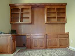 home office wall cabinets. Home Office Full Wall Cabinet With Perpendicular Desk Cabinets