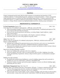 Property Manager Cover Letter Inspirational Property Manager Resume