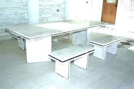 white marble table top. White Topped Dining Table Marble Top Round .