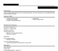 Real Examples Of Journalism Media Resumes That Can Doom A Student's Cool Journalism Resume