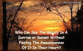 Beautiful Sunrise Scenery With Quotes