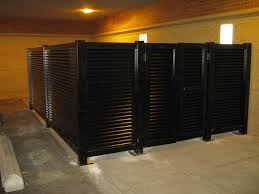 aluminum privacy fence. 6\u0027 High Solid Privacy Louver Screen Interior Enclosure Aluminum Fence C